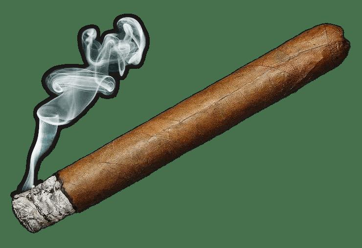 Zigarre ausgeben!